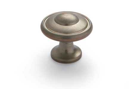 Beveled Knob Antique Pewter Copper